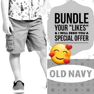 Brown Old Navy Cargo Shorts Adjustable